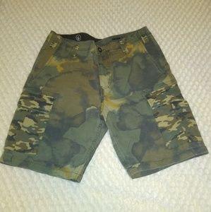 Volcom Slargo Cargo Mixed Camo Shorts 32